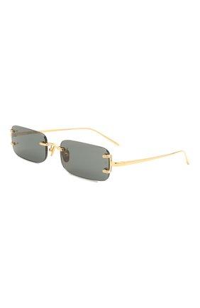 Женские солнцезащитные очки LINDA FARROW черного цвета, арт. LFL1131C1 SUN   Фото 1