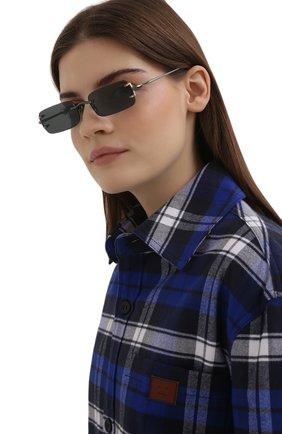 Женские солнцезащитные очки LINDA FARROW черного цвета, арт. LFL1131C4 SUN   Фото 2