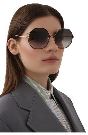Женские солнцезащитные очки LINDA FARROW черного цвета, арт. LFL1148C1 SUN   Фото 2