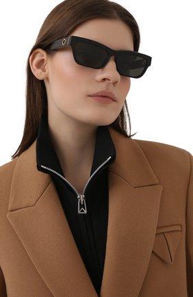 Женские солнцезащитные очки LINDA FARROW черного цвета, арт. LFL1180C1 SUN   Фото 2