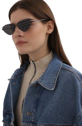Женские солнцезащитные очки BALENCIAGA черного цвета, арт. BB0015S 010 | Фото 2