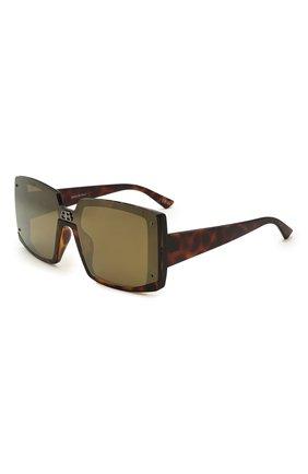 Женские солнцезащитные очки BALENCIAGA темно-коричневого цвета, арт. BB0081S 005 | Фото 1