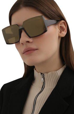 Женские солнцезащитные очки BALENCIAGA темно-коричневого цвета, арт. BB0081S 005 | Фото 2