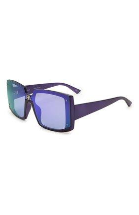 Женские солнцезащитные очки BALENCIAGA синего цвета, арт. BB0081S 006 | Фото 1