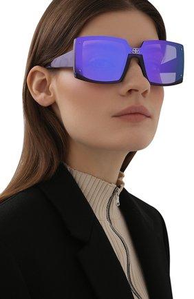 Женские солнцезащитные очки BALENCIAGA синего цвета, арт. BB0081S 006 | Фото 2