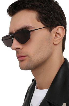 Мужские солнцезащитные очки BALENCIAGA черного цвета, арт. BB0138S 001 | Фото 2