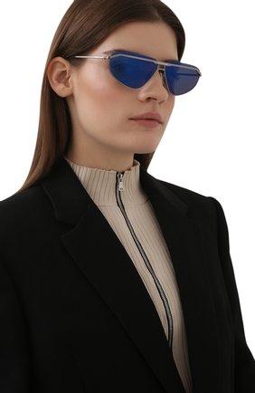 Женские солнцезащитные очки BALENCIAGA синего цвета, арт. BB0138S 002 | Фото 2