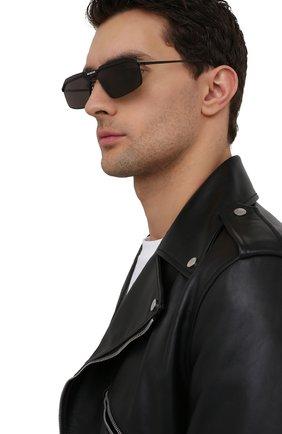 Мужские солнцезащитные очки BALENCIAGA черного цвета, арт. BB0139S 001   Фото 2