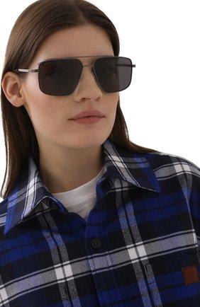 Женские солнцезащитные очки GUCCI темно-серого цвета, арт. GG0941S 001 | Фото 2
