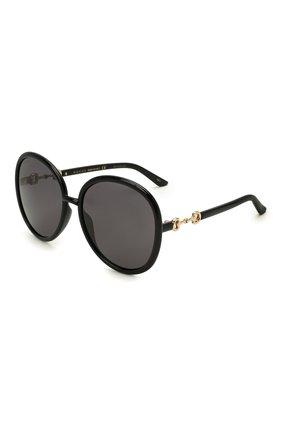 Женские солнцезащитные очки GUCCI черного цвета, арт. GG0889S 001 | Фото 1