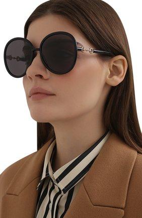 Женские солнцезащитные очки GUCCI черного цвета, арт. GG0889S 001 | Фото 2