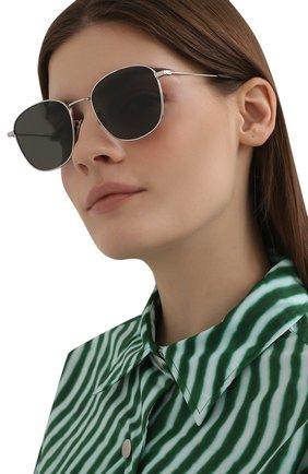 Женские солнцезащитные очки SAINT LAURENT черного цвета, арт. SL 273/K 002 | Фото 2