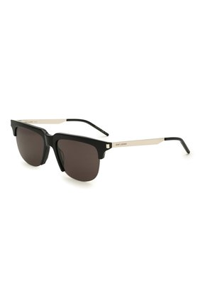 Женские солнцезащитные очки SAINT LAURENT черного цвета, арт. SL 420 002 | Фото 1