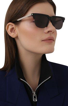 Женские солнцезащитные очки SAINT LAURENT черного цвета, арт. SL 420 002 | Фото 2