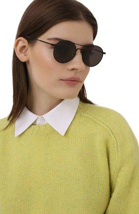 Женские солнцезащитные очки SAINT LAURENT черного цвета, арт. SL 421 001 | Фото 2