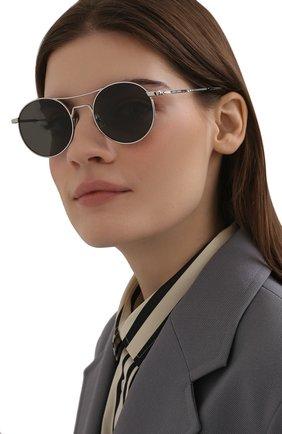 Женские солнцезащитные очки SAINT LAURENT черного цвета, арт. SL 421 002 | Фото 2