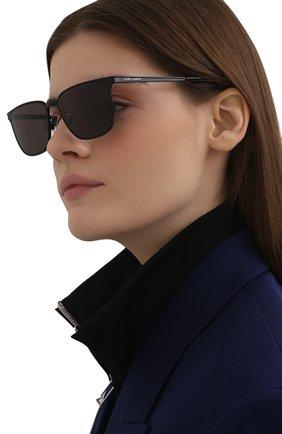 Женские солнцезащитные очки SAINT LAURENT черного цвета, арт. SL 428 002 | Фото 2