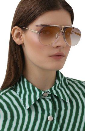 Женские солнцезащитные очки CARRERA фиолетового цвета, арт. CARRERA 1032 06J   Фото 2 (Тип очков: С/з; Оптика Гендер: оптика-унисекс; Очки форма: Авиаторы)
