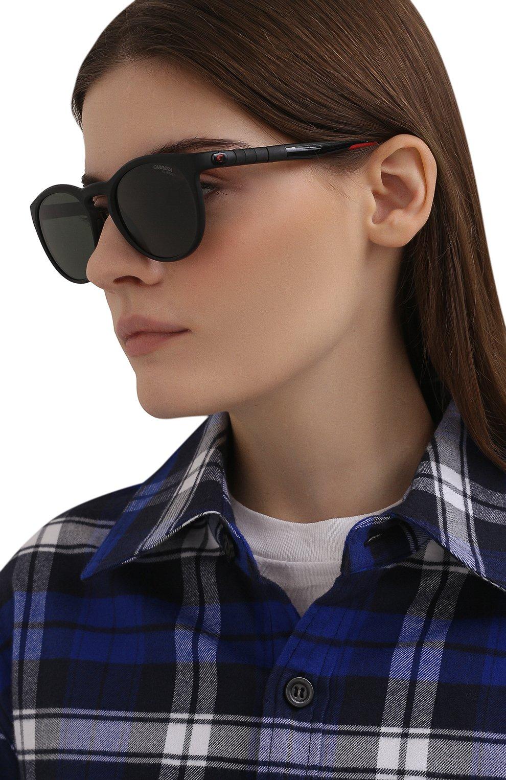Женские солнцезащитные очки CARRERA черного цвета, арт. HYPERFIT 18 003   Фото 2 (Тип очков: С/з; Очки форма: Круглые; Оптика Гендер: оптика-унисекс)