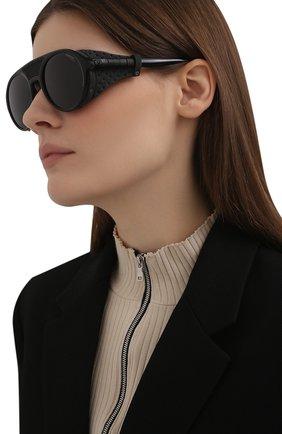 Женские солнцезащитные очки CARRERA черного цвета, арт. HYPERFIT 19 807   Фото 2 (Тип очков: С/з; Оптика Гендер: оптика-унисекс; Очки форма: Круглые)
