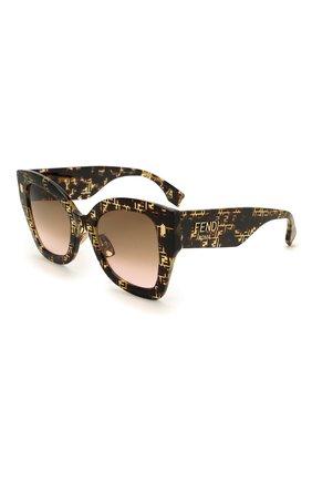Женские солнцезащитные очки FENDI коричневого цвета, арт. 0434/G 2VM   Фото 1