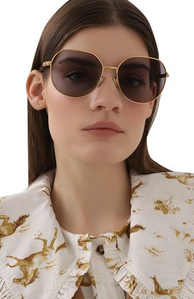 Женские солнцезащитные очки FENDI золотого цвета, арт. 0451/F 001 J0   Фото 2