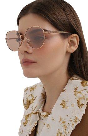 Женские солнцезащитные очки FENDI розового цвета, арт. 0451/F DDB   Фото 2