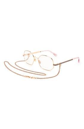 Женские оправа и цепочка JIMMY CHOO золотого цвета, арт. JC245 S9E | Фото 1