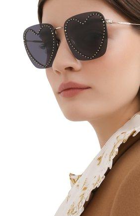 Женские солнцезащитные очки MARC JACOBS (THE) черного цвета, арт. MARC 493 013 | Фото 2