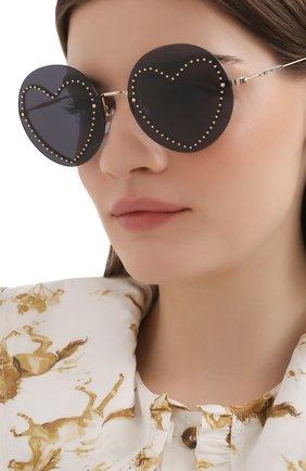 Женские солнцезащитные очки MARC JACOBS (THE) черного цвета, арт. MARC 494/G 013 | Фото 2