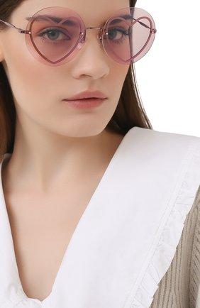 Женские солнцезащитные очки MARC JACOBS (THE) розового цвета, арт. MARC 494/G 733 | Фото 2