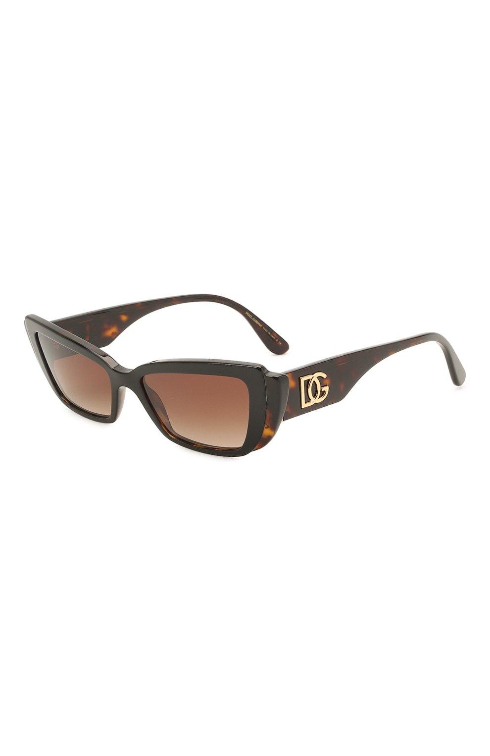 Женские солнцезащитные очки DOLCE & GABBANA коричневого цвета, арт. 4382-327013 | Фото 1