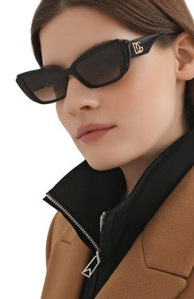 Женские солнцезащитные очки DOLCE & GABBANA коричневого цвета, арт. 4382-327013 | Фото 2