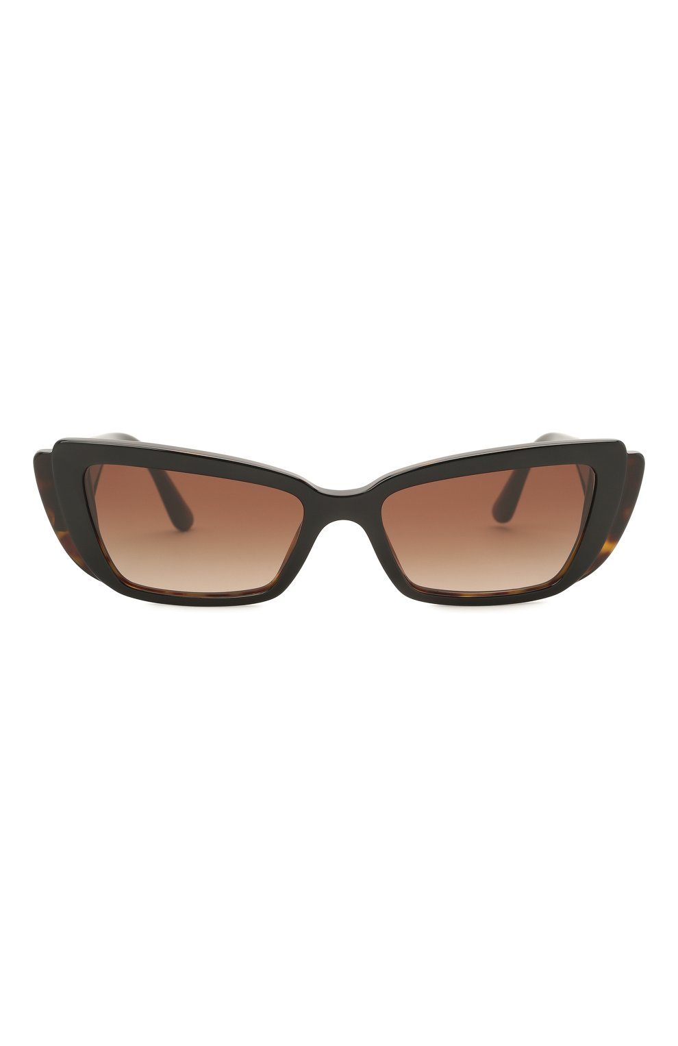 Женские солнцезащитные очки DOLCE & GABBANA коричневого цвета, арт. 4382-327013 | Фото 3
