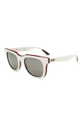 Женские солнцезащитные очки RAY-BAN белого цвета, арт. 4368-65196G | Фото 1