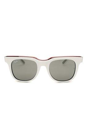 Женские солнцезащитные очки RAY-BAN белого цвета, арт. 4368-65196G | Фото 4