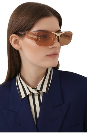 Женские солнцезащитные очки BURBERRY коричневого цвета, арт. 3123-3358/3 | Фото 2