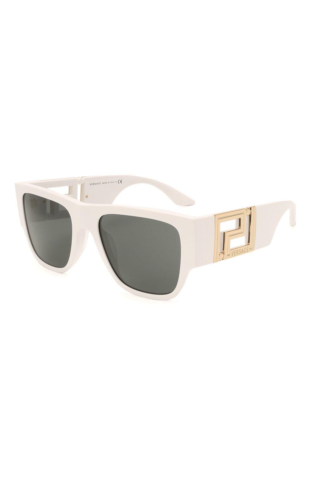 Женские солнцезащитные очки VERSACE белого цвета, арт. 4403-314/87   Фото 1