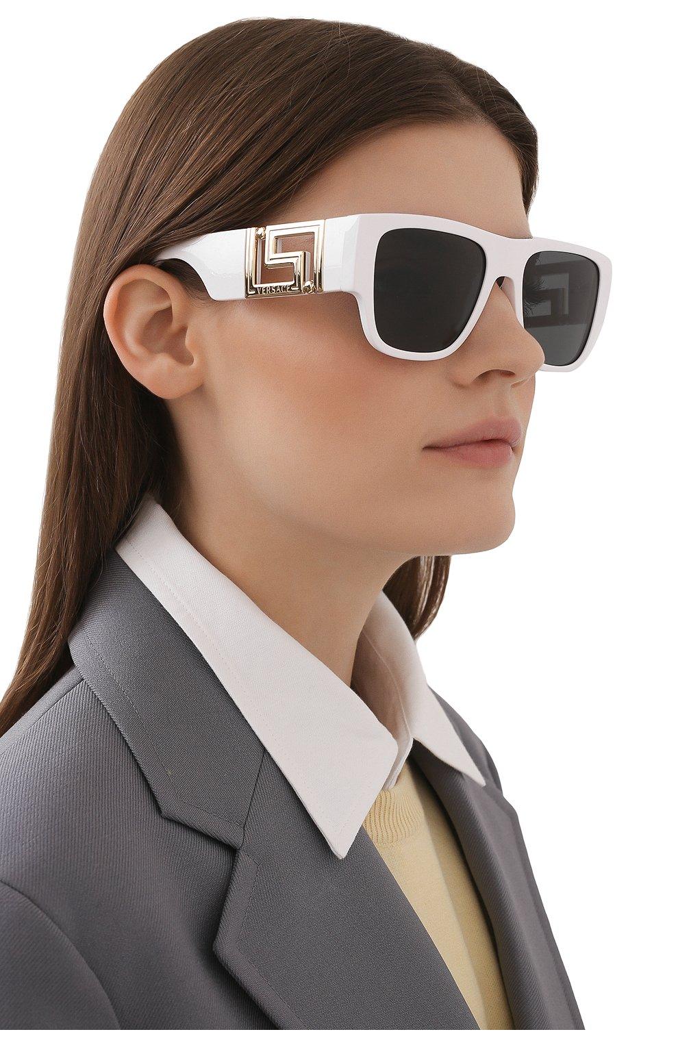 Женские солнцезащитные очки VERSACE белого цвета, арт. 4403-314/87   Фото 2
