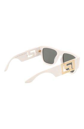 Женские солнцезащитные очки VERSACE белого цвета, арт. 4403-314/87   Фото 4