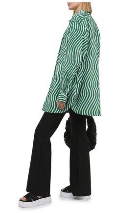 Женские текстильные сандалии MIU MIU черного цвета, арт. 5X996C/71L   Фото 2