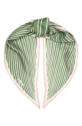 Женский шелковый платок LORO PIANA зеленого цвета, арт. FAL6131   Фото 1