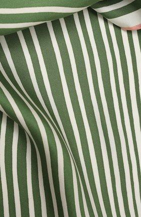 Женский шелковый платок LORO PIANA зеленого цвета, арт. FAL6131   Фото 2