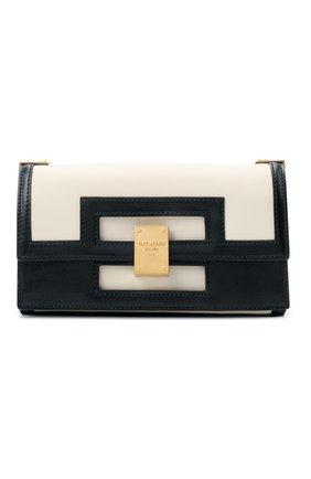 Женская сумка 1945 BALMAIN черно-белого цвета, арт. VN0BK607/LMSX | Фото 1
