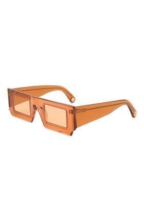 Женские солнцезащитные очки JACQUEMUS коричневого цвета, арт. 211AC10/503700 | Фото 1