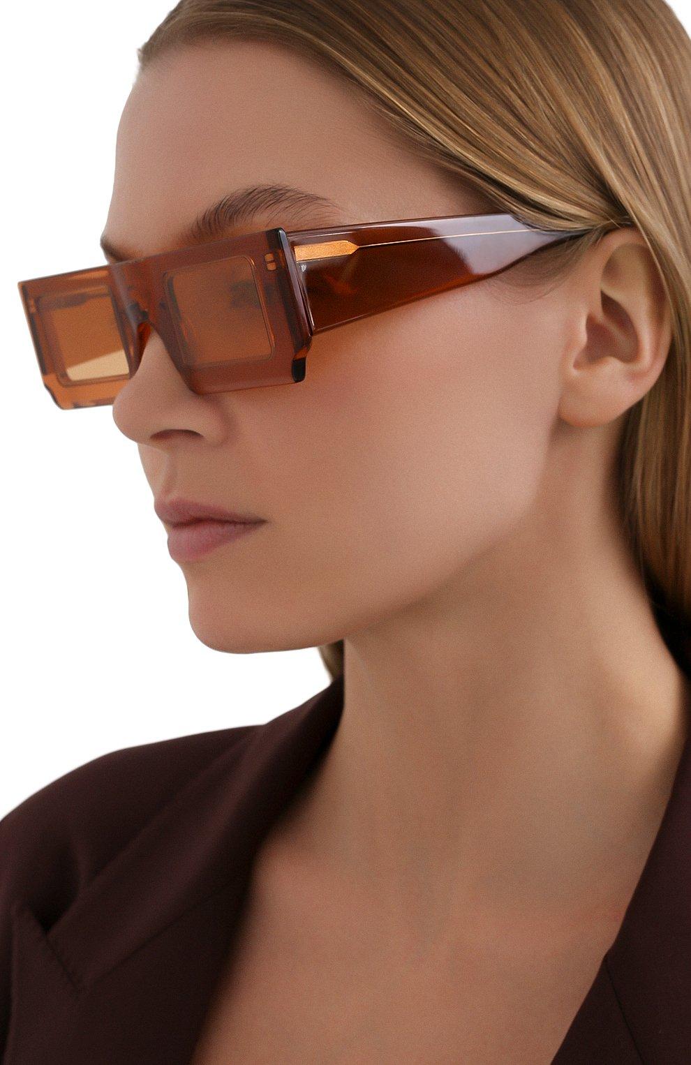 Женские солнцезащитные очки JACQUEMUS коричневого цвета, арт. 211AC10/503700 | Фото 2