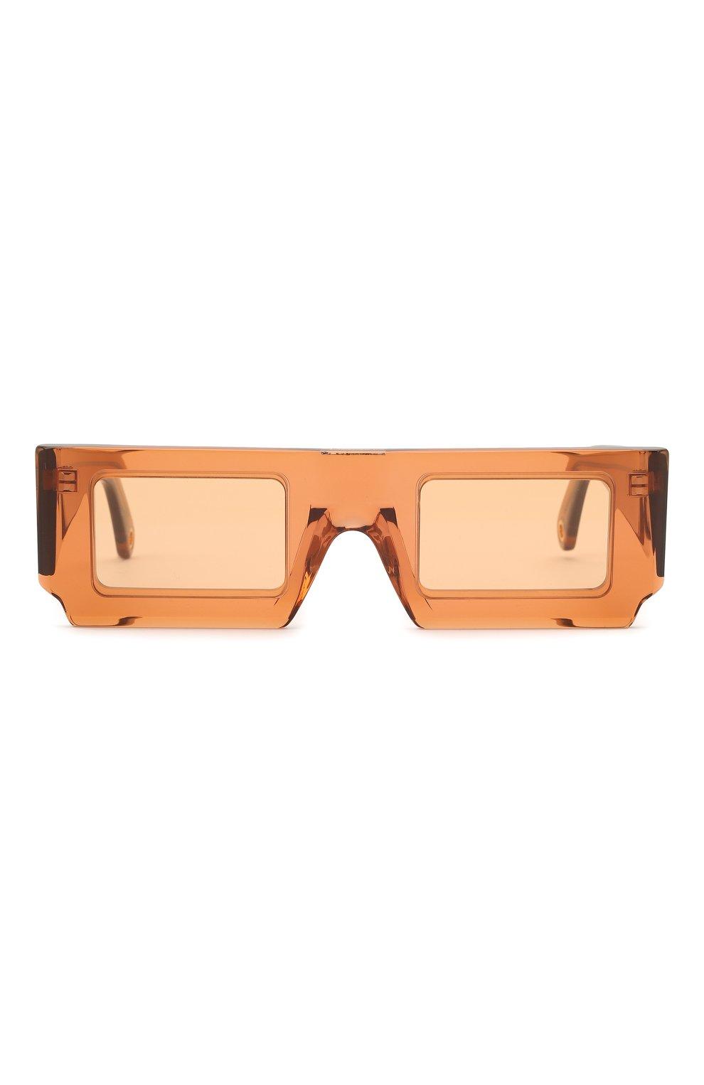 Женские солнцезащитные очки JACQUEMUS коричневого цвета, арт. 211AC10/503700 | Фото 3