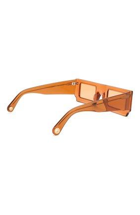 Женские солнцезащитные очки JACQUEMUS коричневого цвета, арт. 211AC10/503700 | Фото 4