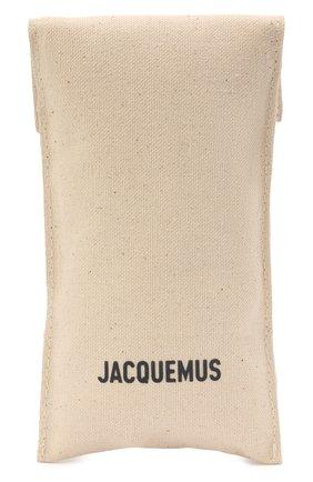 Женские солнцезащитные очки JACQUEMUS коричневого цвета, арт. 211AC10/503700 | Фото 5