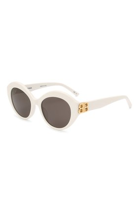 Женские солнцезащитные очки BALENCIAGA белого цвета, арт. 648054/T0001 | Фото 1